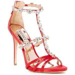 Badgley Mischka Thelma Embellished Sandal Heel